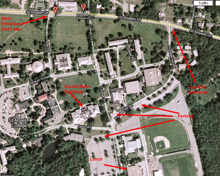St Anselm Campus Map.Directions